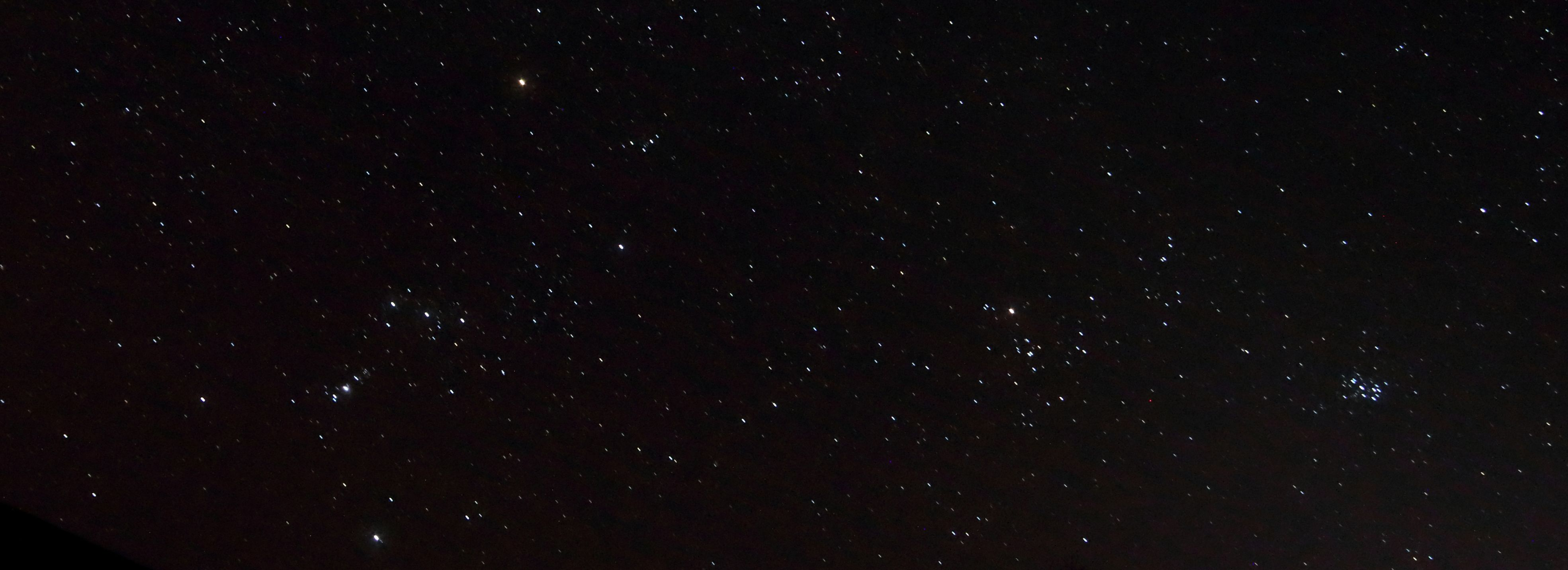 Orion, the Hyades and Pleiades