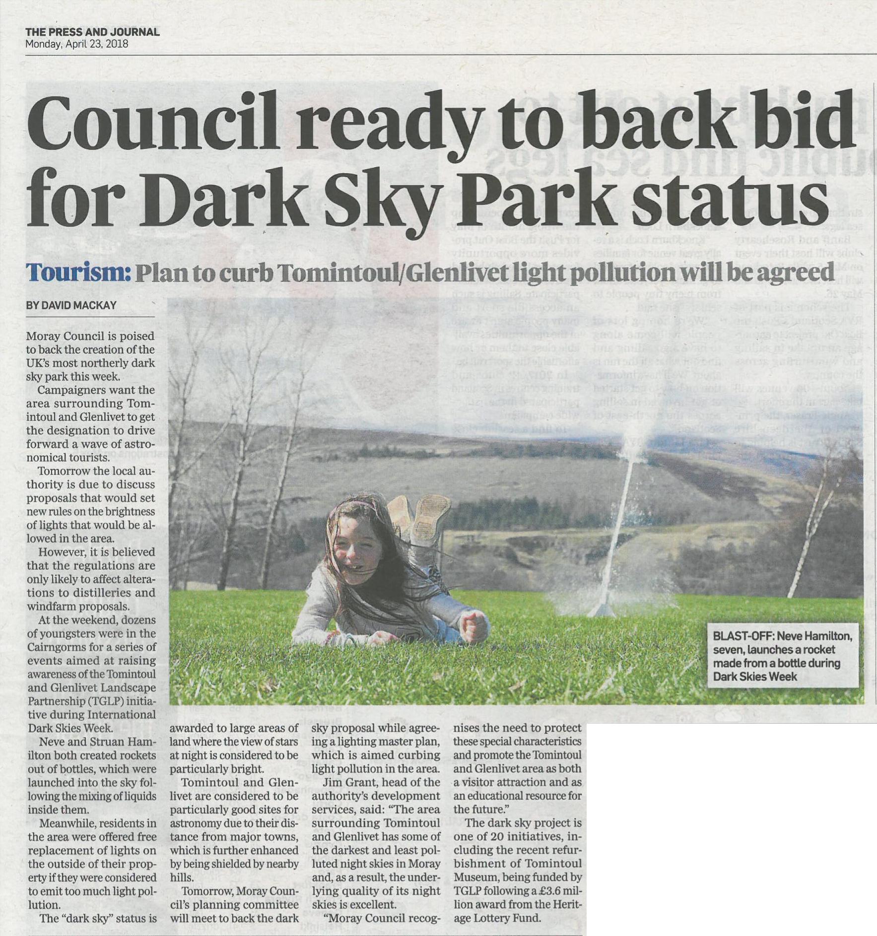 Planners back Dark Sky Park