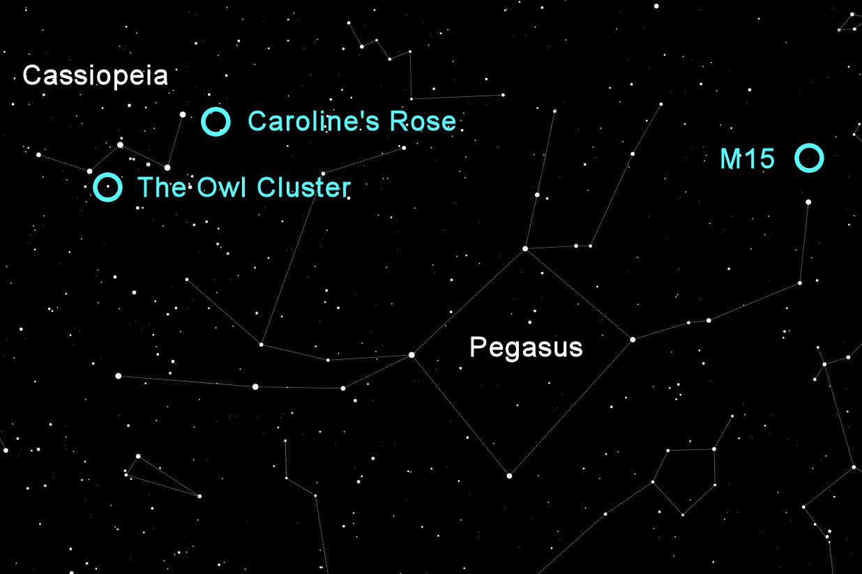 Star Map of Cassiopeia & Pegasus