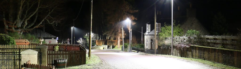 Full cut off street lighting in Tomnavoulin